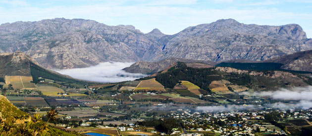 Franschhoek food and wine route