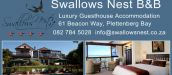 SWALLOWS NEST B&B, PLETTENBERG BAY
