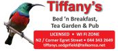 Tiffany's Bed and Breakfast, Tea Garden and Pub